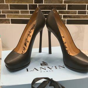 Lanvin Black Stiletto Pumps - Angled Point Toe